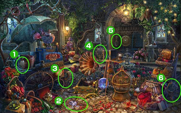 邸宅の門:鏡