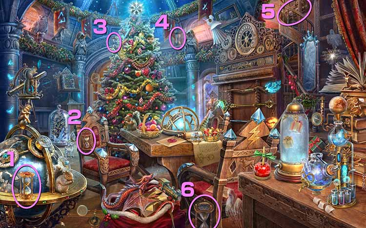 クリスマスの学校:砂時計