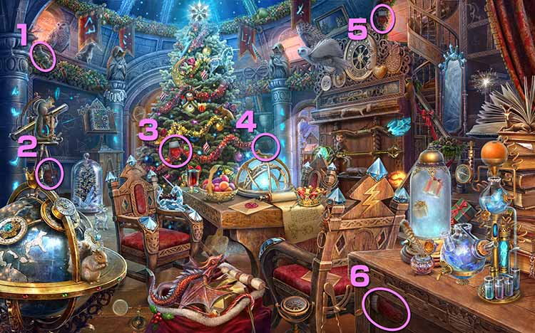 クリスマスの学校:手袋