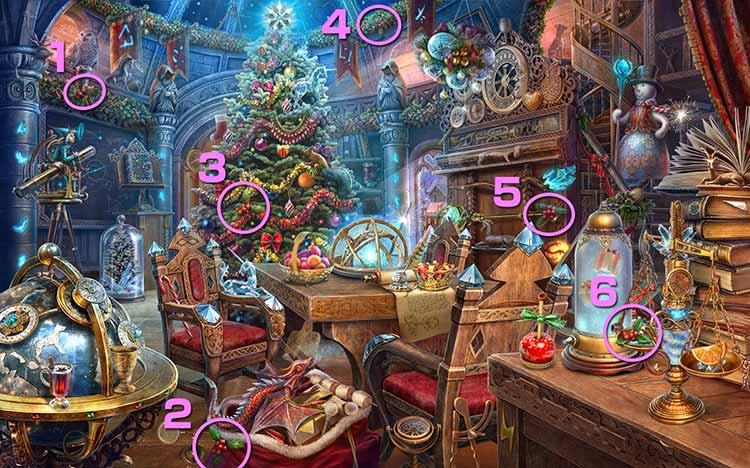 クリスマスの学校:ヒイラギの飾り