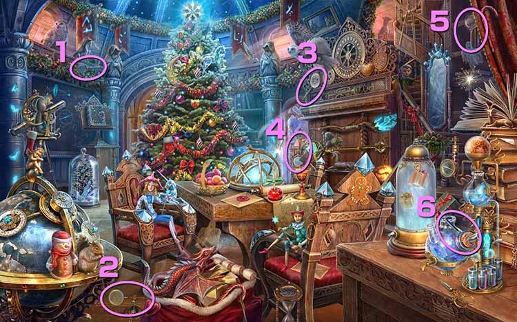 クリスマスの学校:虫眼鏡