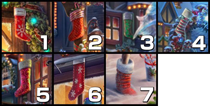 北極街:クリスマスの靴下