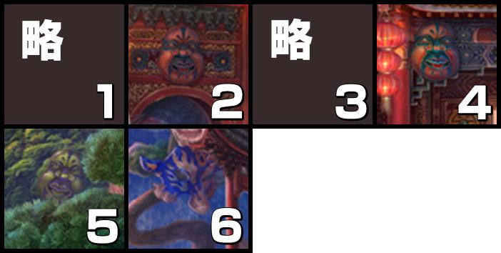 伝説の仏塔:仮面
