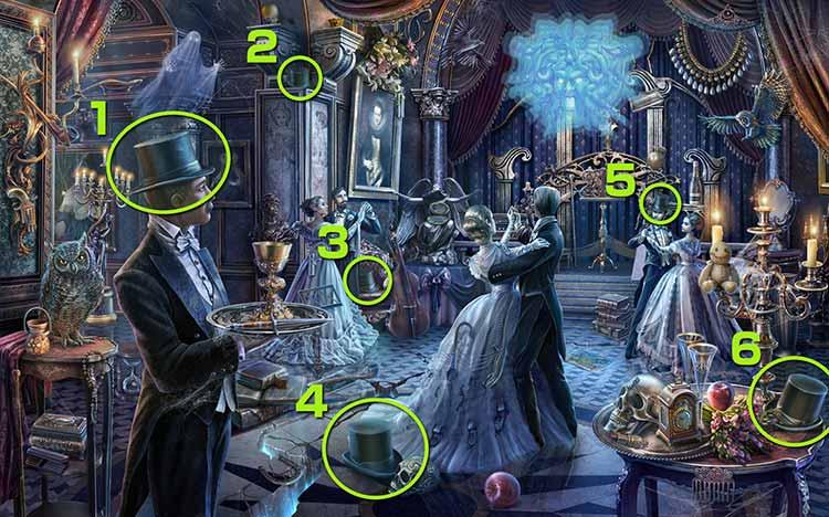 魅惑の舞踏会:帽子