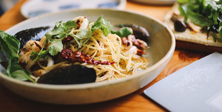 パスタと野菜